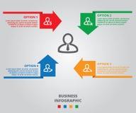 Cztery koloru Infographic, Biznesowy Infographic projekt Obrazy Royalty Free