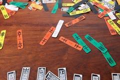 ` Cztery koloru kart ` Chińska tradycyjna gra Obraz Royalty Free