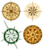 cztery kompasów crunch Zdjęcia Royalty Free