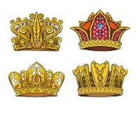 Cztery Królewska korona ilustracja wektor