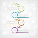 Cztery kroków infographics Obrazy Stock
