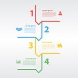 Cztery kroków sekwenci układu infographic pojęcie Obrazy Royalty Free