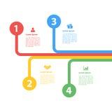 Cztery kroków sekwenci układu infographic pojęcie Zdjęcie Stock