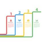 Cztery kroków sekwenci układu infographic pojęcie Fotografia Stock