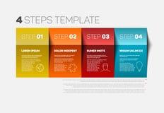 Cztery kroków szablon Fotografia Royalty Free