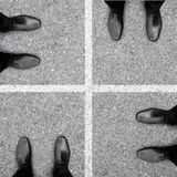 Cztery kroka biznesowy sukces Obraz Royalty Free