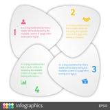 Cztery kroka jeździć na rowerze infographic układu pojęcie Zdjęcie Stock