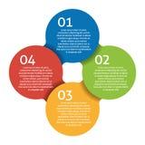 Cztery kroka przetwarzają - projekta element. Wektor. Obraz Royalty Free