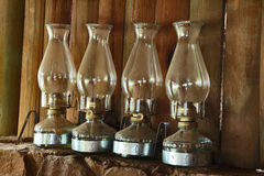 cztery lampionu Fotografia Royalty Free