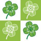 cztery liść bezszwowy Zdjęcia Royalty Free