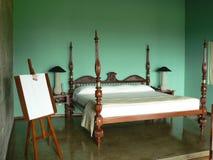 cztery listy łóżka zdjęcia royalty free