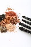 Cztery makeup muśnięcia i pokruszonych eyeshadows różni kolory obraz royalty free