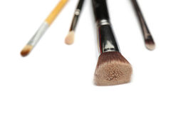 Cztery makeup muśnięcia odizolowywającego na białym tle fotografia royalty free