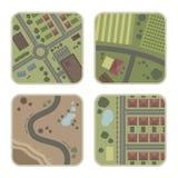 cztery mapy. ilustracji