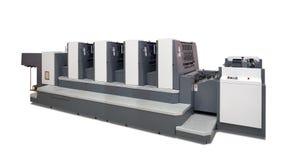 cztery maszynowych odsadzka drukujących sekci obraz stock