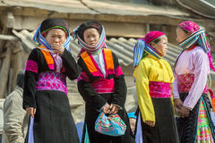 Cztery mniejszości etnicznej obsługuje Obrazy Stock