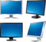 cztery monitoru Zdjęcie Stock
