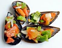 cztery mussels Zdjęcia Royalty Free