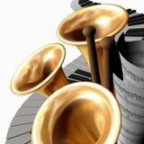 cztery muzyki Fotografia Stock