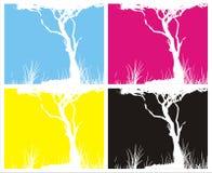 Cztery obrazków CMYK colours royalty ilustracja