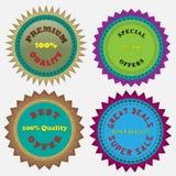 Cztery odznaki Obrazy Stock