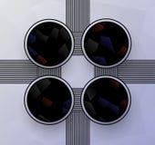 Cztery okregów szablon ilustracja wektor