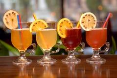 cztery owocowego poncza Zdjęcie Royalty Free