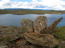 Cztery płaskiego kamienia zdjęcia stock