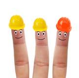Cztery palca w hełmie Fotografia Stock