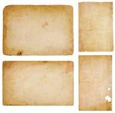 cztery papierowy świstków rocznik Fotografia Royalty Free