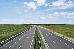cztery pasów ruchów autostrada Obrazy Stock