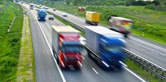 Cztery pasów ruchu dostępu autostrada w Polska Obrazy Royalty Free