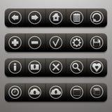 Cztery paska narzędzi z dwadzieścia ikonami dla strony internetowej Zdjęcia Royalty Free