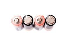 Cztery penlight baterii odizolowywającej na białym tle Obrazy Royalty Free