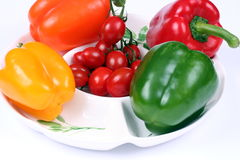 cztery peppera kolorowe Fotografia Stock