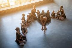 Cztery pięknej baleriny Fotografia Stock