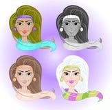 Cztery pięknej dziewczyny Zdjęcia Stock