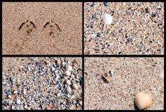 Cztery piaskowatej tło tekstury Fotografia Royalty Free