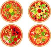 cztery pizz set royalty ilustracja