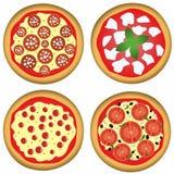 cztery pizza Obraz Stock