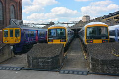 Cztery pociągu Zdjęcie Stock