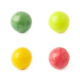 Cztery pojedynczej guma do żucia piłki Obraz Stock