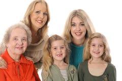 cztery pokolenia zdjęcie Zdjęcia Royalty Free