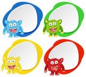 Cztery potwór na colour sztandarze ilustracji