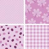 Cztery purpurowej bezszwowej tapety Zdjęcia Royalty Free