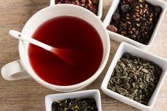 Cztery różna miła herbata Zdjęcie Royalty Free