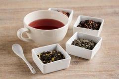 Cztery różna miła herbata Fotografia Royalty Free