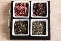 Cztery różna miła herbata Fotografia Stock