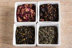 Cztery różna miła herbata Zdjęcia Royalty Free