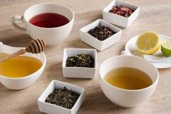 Cztery różna miła herbata Zdjęcia Stock